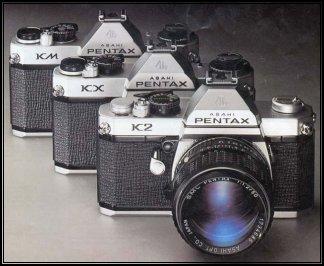 Different Pentax camera bodies